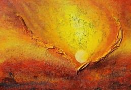 Sonnenfeuer 100x70cm strukturbild