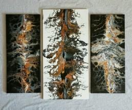 Ghost pou Triptychon Fluidart metallic