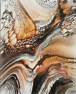 Collide 2 40x50cm Bilder Gemaelde abstrakt Fluidart