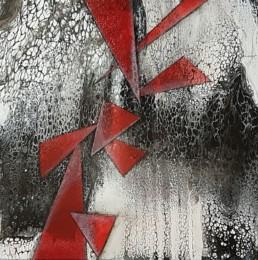 Triangel 50x50cm Bilder Gemaelde abstrakt Fluidart