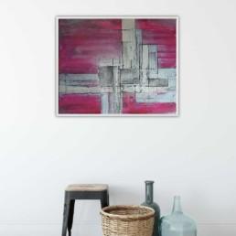 Bild pink violett silber geometrisch abstrakt