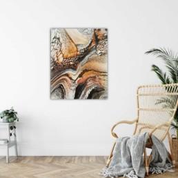 abstrakt bild wandbild gold schwarz weiß
