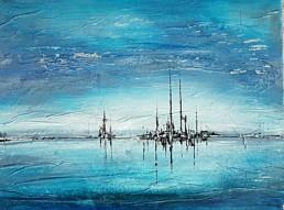 Arktis skyline abstrakte Bilder 40x50