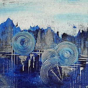 Blaue Stadt Lebenslinien Struktur abstrakte Bilder