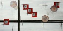 Strukturen 09 abstrakte Gemaelde, geometrisch 50x100