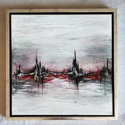 bild rot schwarz silber stadt skyline