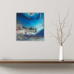 Abstrakte Malerei Kunst Bilder blau